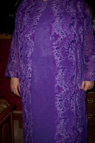 Primary image for Sue Brett 4 Piece Lilac Outfit SZ 20W Dress Pant Duster Purple Reversible NEW