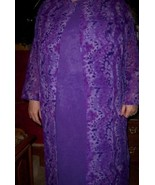 Sue Brett 4 Piece Lilac Outfit SZ 20W Dress Pant Duster Purple Reversibl... - $40.00