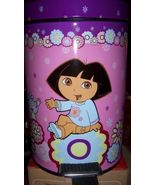 Dora Pedal Waste Basket + Dora Colorful Throw Boots Purple Boots NEW - $36.00
