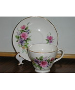 Vintage Duchess English Bone China Cup & Saucer - Beautiful Floral Pattern - $417,05 MXN