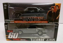 Supernatural, Gone In 60 Seconds, 2 x 1:64 Die Cast Cars, Loot Crate Exc... - $18.76