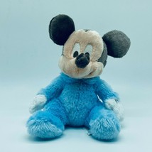 Disney Mickey Rattle Plush Blue Beanbag Disneyland Walt Disney World Par... - $9.99