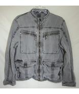 TRIPLE FIVE SOUL Urban Streetwear Jacket Gray Cotton Full Zip Coat Zip L... - $64.35