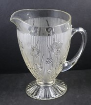 Iris and Herringbone, 9.5 Inch, Footed, Pitcher, made by Jeannette - $30.00