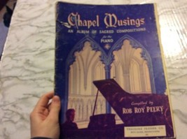 Chapel Musings Sacred Compositions for Piano Rob Perry 1942 Sheet Music ... - $5.13