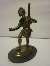 VINTAGE BRONZE OR BRASS STATUE FIGURE APPEAR TO BE LITTLE JOHN FROM ROBI... - $9.99