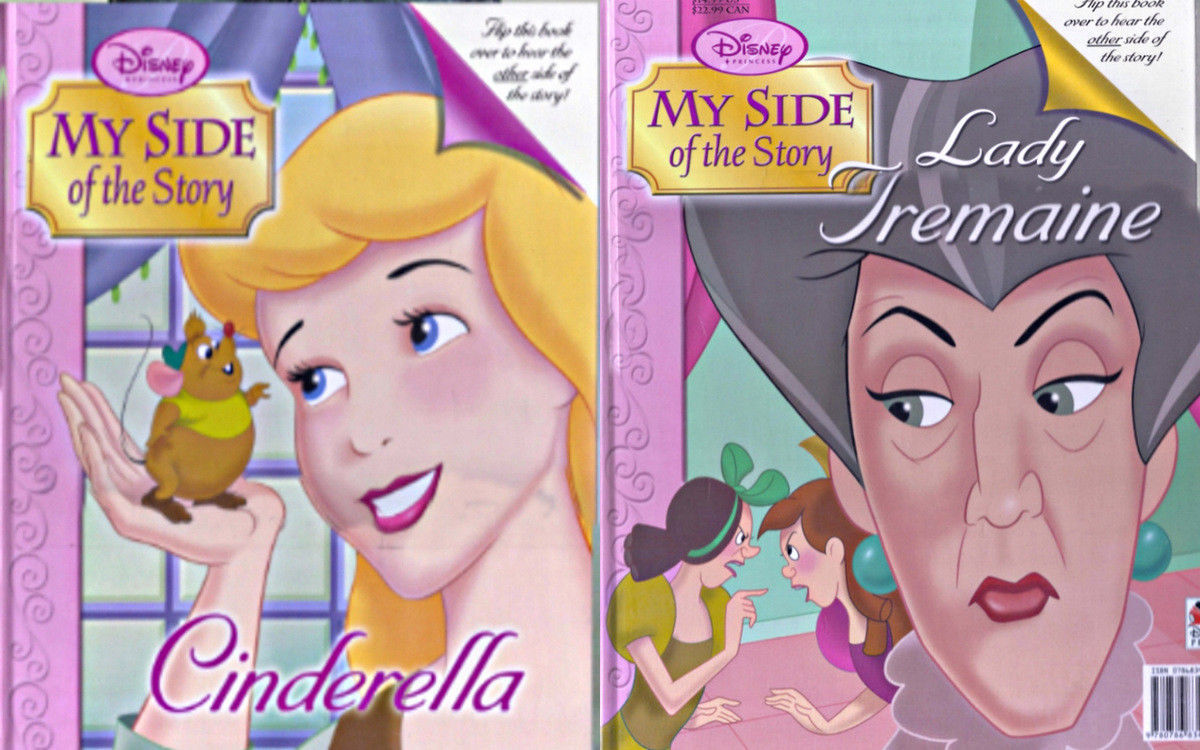 Primary image for Cinderella & Step Mother Lady Tremaine Flip Side Large Hardcover Story Book