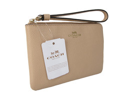 Coach Signature Wristlet Bag Purse Genuine Leat... - $49.49