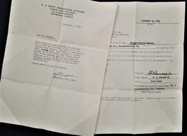 1942 vintage WWII ANTONIO Wm MATACIA charlottesville ba NAVY F RECRUIT D... - $42.50