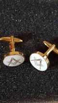 gold & Silver Enamelled Masonic Cufflinks no g Cufflinks in gift box, cuff links