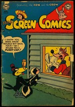Real Screen Comics #48 1952- Fox and Crow Funny Animals DC FAIR - $27.74