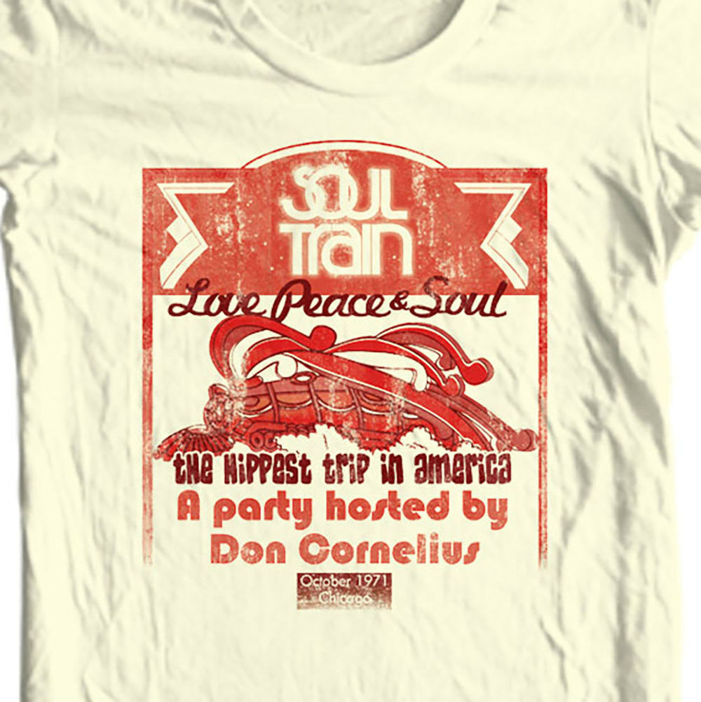 Soul Train Hippest Trip T-shirt Don Cornelius disco funk jazz  music 70s TV tee
