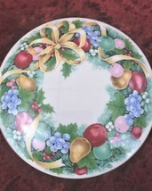 "COLLECTIBLE MIKASA ""CHRISTMAS BOUQUET"" CERAMIC ROUND COVERED BOX ITEM #U... - $18.04"