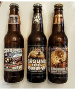 GROUNDHOG Day BREW Empty Bottle LOT 2005 2006 2007 Punxsutawney Phil Str... - $29.68