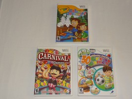 Wii Lot - Carnival Games 30 Great Games Family Party Crayola Colorful Journey image 2