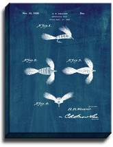Artificial Bait Patent Print Midnight Blue on Canvas - $39.95+