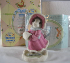 Enesco My Blushing Bunnies Love Will Never Let You Fall Girl Ice Skating... - $5.90