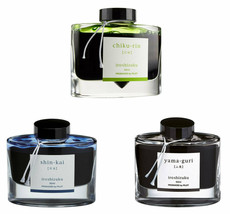 Pilot iroshizuku INK-50 shin-kai,chiku-rin,yama-guri 50ml Bottled Ink(Pa... - $70.11
