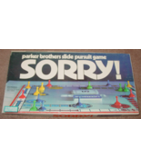 SORRY GAME PARKER BROTHERS PURSUIT GAME 1972 COMPLETE EXCELLENT - $20.00