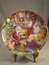 """Bill Bell Plate Holiday Christmas Cats """"Not A Creature Was Purring"""" - $6.80"""