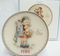 Goebel Hummel 1980 10th Annual Plate HUM273 School Girl Original Box - $9.89