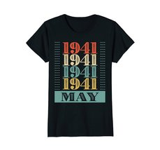 Funny Shirts - Retro Classic Vintage May 1941 77th Birthday Gift 77 yrs old Wowe image 3