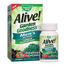 Nature's Way Alive! Garden Goodness Men's  Multivitamin, Veggie & Fruit Blend 14