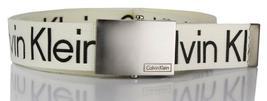New Calvin Klein Men's Premium CK Logo Cotton Adjustable 38mm Canvas Belt 73545 image 6