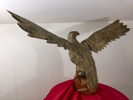 Mid century Black Forest German Eagle wood carved hunting deco design bauhaus image 3