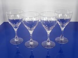 Fostoria Crystal Chapel Bells Water Wine Goblet (S) Lot Of 4 Elegant Glass - $39.55