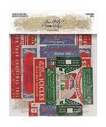 Tim Holtz Idea-Ology 2020 Vignette Box Tops - Christmas - Five Item Package - $12.95