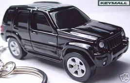 Very Rare Key Chain 03~2004~2005~2006~2007~2008 Black Jeep Liberty New Porte Cle - $38.99