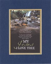 My Jesus I Love Thee. . . 8 x 10 Inches Biblical/Religious Verses set in... - $10.95