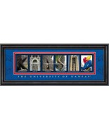University of Kansas Officially Licensed Framed Letter Art - 3 Versions - $34.10