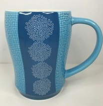 Starbucks Coffee Cup 2007 Blue textured Weave - $18.58
