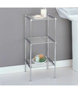 Chrome 3 Shelf Storage Rack Wire Shelving Unit Tier Organizer Tower Bath... - $50.39