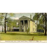 The Honorable Samuel Hanna Homestead Fort Wayne Indiana 1909 Post Card - $5.00