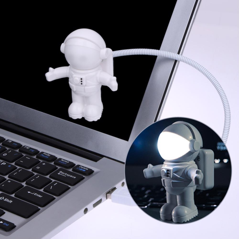 Astronaut Spaceman USB LED Adjustable Night Light Gadgets For Computer PC Lamp