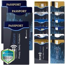 15pc Durable Reusable RFID Blocking 12 Credit Card 3 Passport Holder Cas... - $363,87 MXN