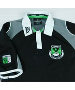 Guinness Beer Rugby Ireland Black Polo Golf Shirt Harp Sz S - $22.99