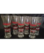 VINTAGE BUDWEISER CHRISTMAS BEER GLASSES (SET OF 6) - $27.00