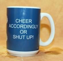 DETROIT LIONS Cup Coffee Mug 16oz Die Hard Fans Cheer Accordingly Shut Up - $11.06