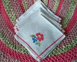 Vintage floral linen napkins1 thumb155 crop