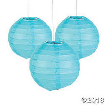 Mini Light Blue Hanging Paper Lanterns - $10.24