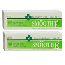 2xSMOOTH E Cream Vitamin E Scars Anti Aging Aloe Vera Acne Spot MARK100 G - $90.00