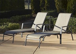 Cosco Outdoor Adjustable Aluminum Chaise Lounge Chair Serene Ridge Pati... - $882.48