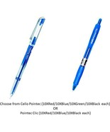 Cello Pointec Choose from 2 Variants Set of 10 Pens each Gel Pens from I... - $13.49