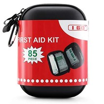 I GO 85 Pieces Hard Shell Mini Compact First Aid Kit, Small Personal Eme... - $35.48+