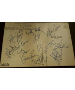 1976-77 Trailblazers Équipe Feuille Signé Par 12 Lucas Ramsay Gilliam NBA - $149.77
