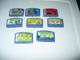 Lot Of 8 Blue  Leapster Games - Cars, Disney Princesses, Finding Nemo & ... - $9.78